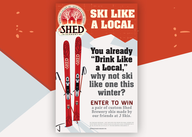 Point of Sale Advertising for The Shed Brewery