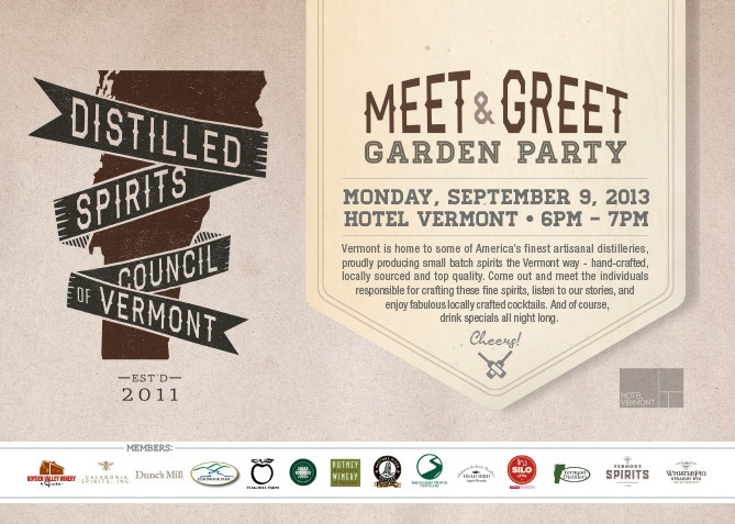 Print Advertising for Distilled Spirits Council of VT