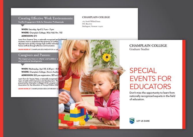 Print Advertising for Champlain College