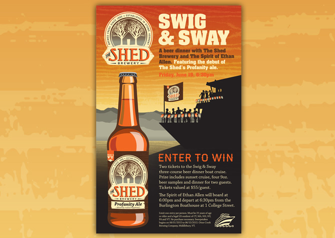 Print Advertising for The Shed Brewery