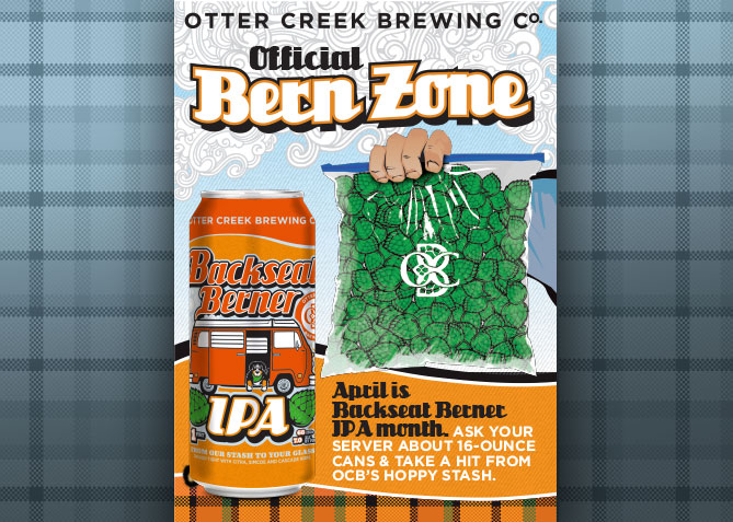 Point of Sale Poster for Otter Creek Brewing Co.