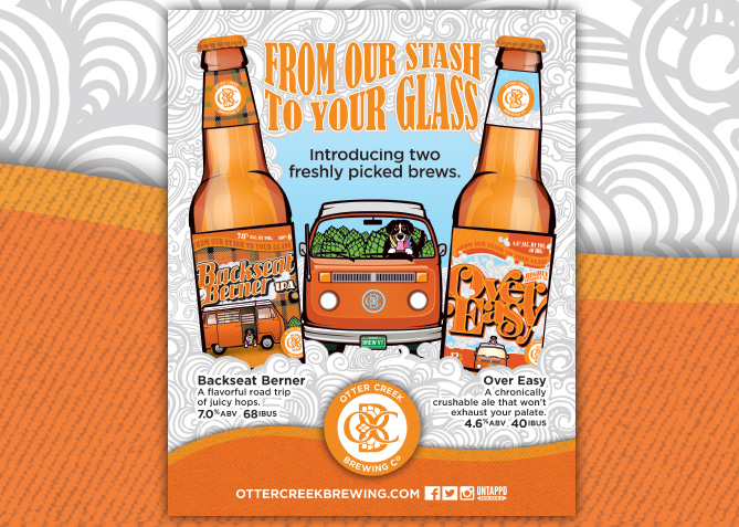 Print Advertising for Otter Creek Brewing Co.