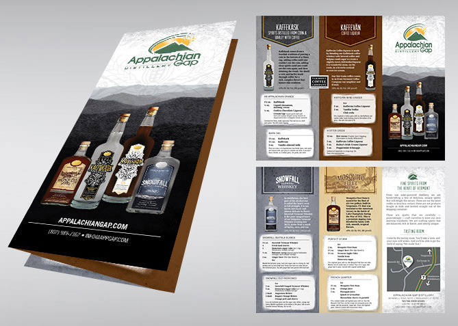 Brochure Design for Appalachian Gap Distillery