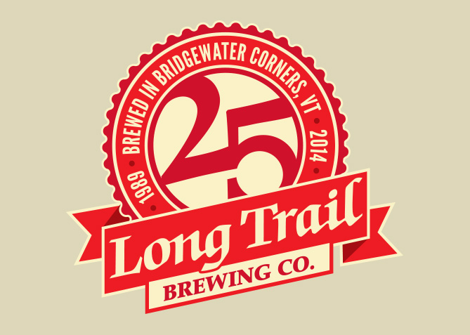 25th Anniversary Logo for Long Trail Brewing Co.