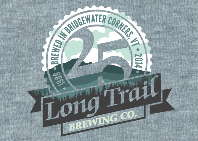 25th Anniversary Tee Graphic for Long Trail Brewing Co.