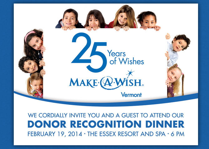 Event Invitation for Make-A-Wish Vermont