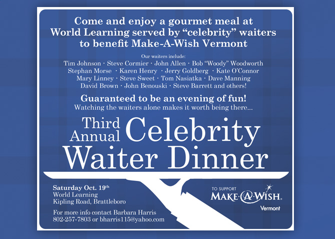 Event Advertising for Make-A-Wish Vermont