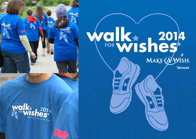 Event Tee Shirt for Make-A-Wish Vermont