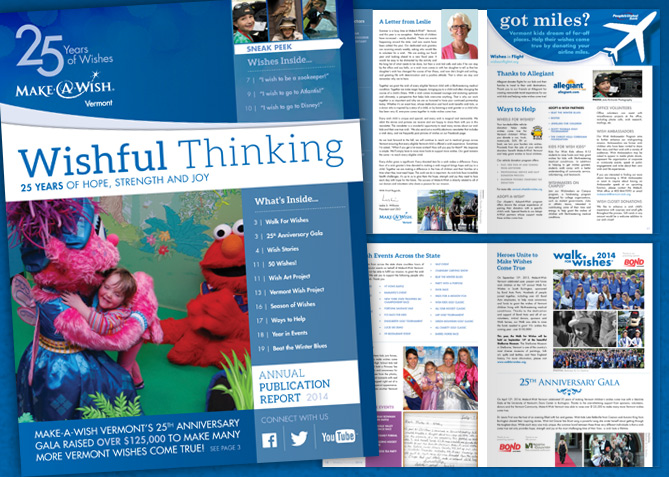 Print Collateral for Make-A-Wish Vermont
