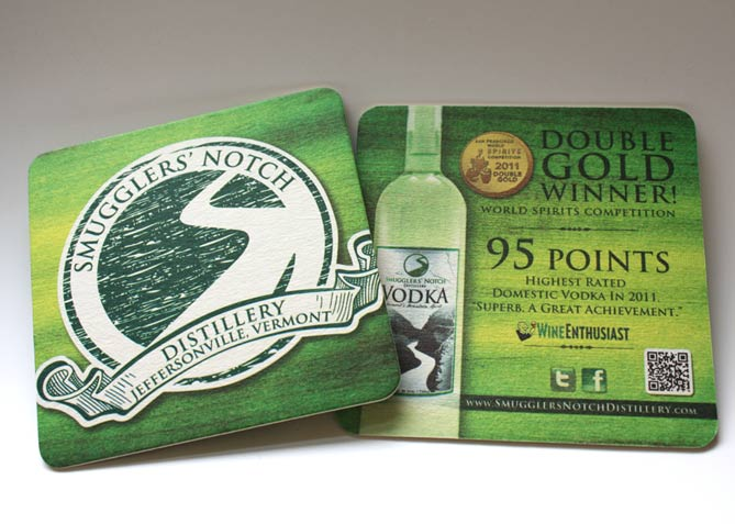 Graphic Design for Smugglers' Notch Distillery