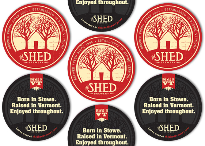 Coaster Design for The Shed Brewery