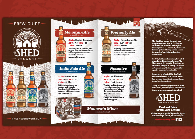 Brochure Design for The Shed Brewery