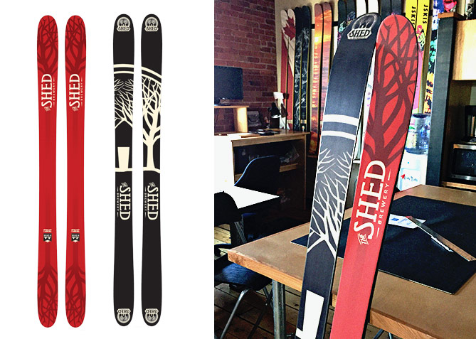 Promotional Ski Design for The Shed Brewery