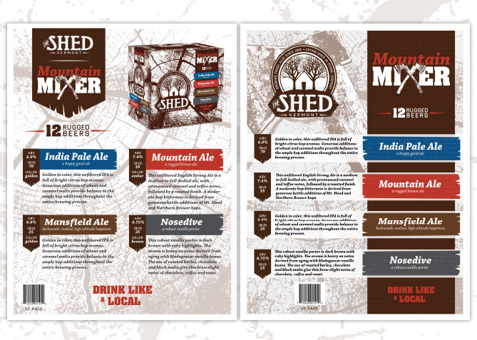 Advertising for The Shed Brewery