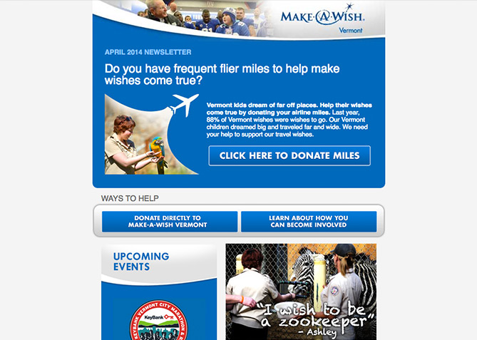 Email Marketing for Make A Wish