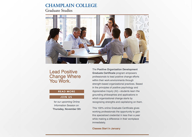 Email Marketing for Champlain College