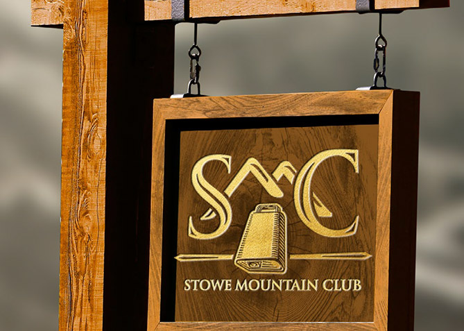 Environmental Branding for Stowe Mt. Club