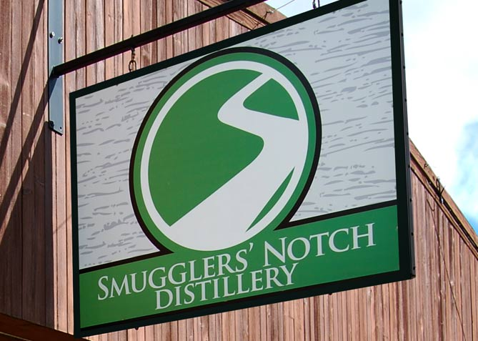 Environmental Branding for Smugglers' Notch Distillery
