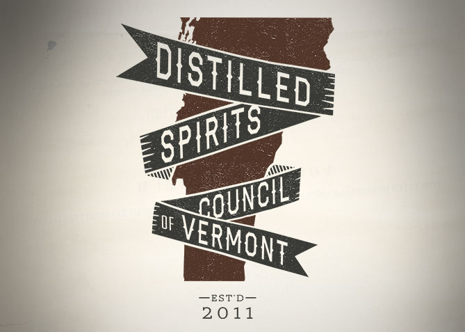 Logo Design, Branding for Distilled Spirits Council of VT
