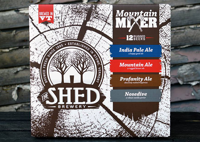 Packaging Design for The Shed Brewery