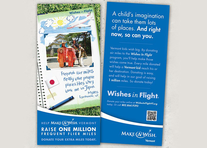 Brochure Design for Make-A-Wish Vermont