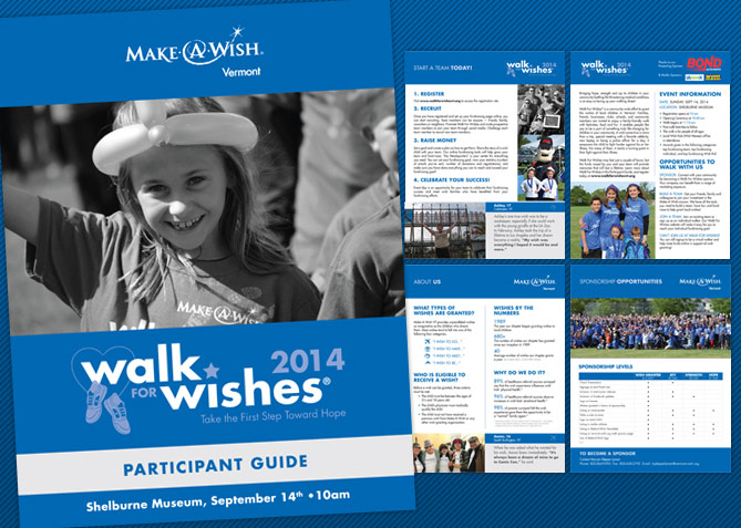 Event Collateral Design for Make-A-Wish Vermont