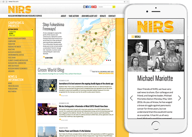 Responsive Website Design, Responsive Website Development for NIRS