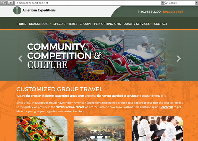 Responsive Website Design, Responsive Website Development for American Expeditions
