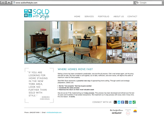 Website Design, Website Development for Sold with Style