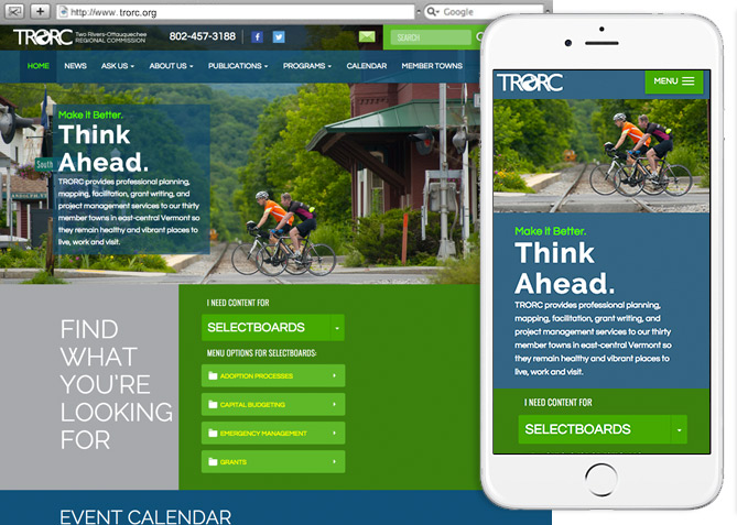 Responsive Website Design, Responsive Website Development for TRORC