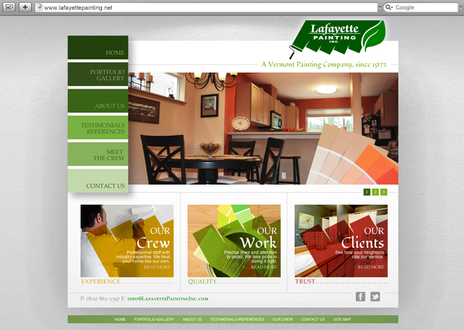 Website Design, Website Development for Lafayette Painting Co.