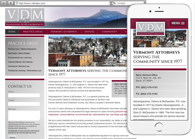 Responsive Website Design, Responsive Website Development for VDM Law