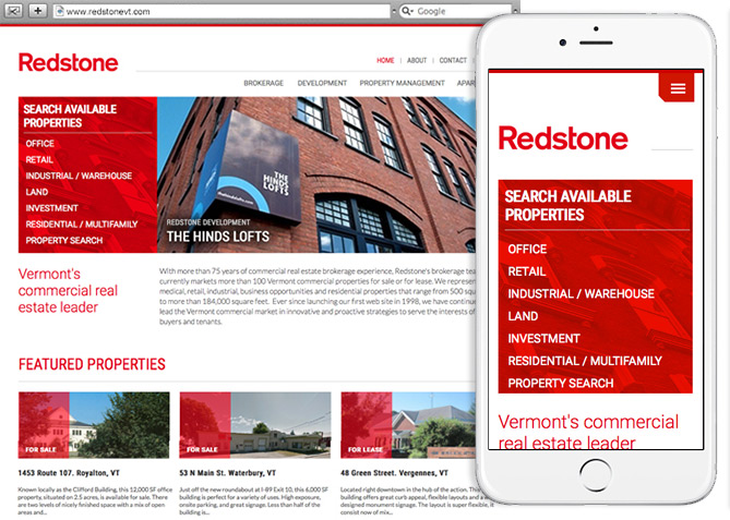 Responsive Website Design, Responsive Website Development for Redstone