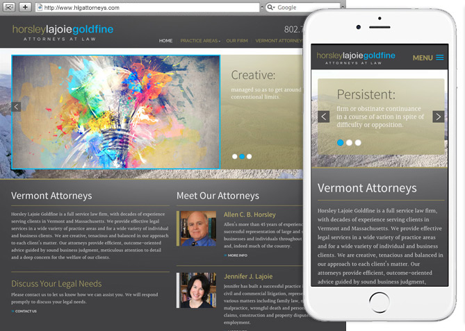 Responsive Website Design, Responsive Website Development for HLG Attorneys
